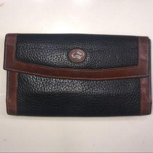 Vintage Dooney & Bourke Wallet Black Brown Leather